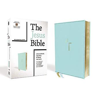 The Jesus Bible, NIV Edition, Leathersoft, Blue, Indexed, Comfort Print