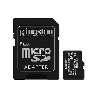 Kingston 16GB microSDHC Canvas Select Plus 100MB/s Read A1 Class 10 UHS-I Memory Card + Adapter