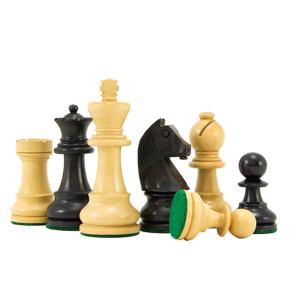 Down Head Knight Ebonised Staunton Chess Pieces 3 Inches