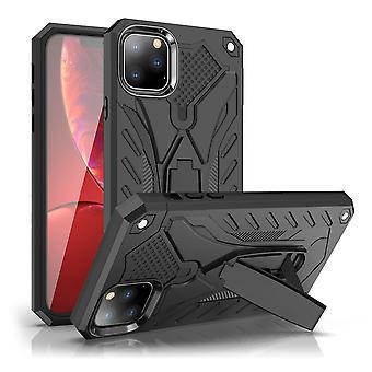 Per iPhone 11 Pro Case, Armour Forte A prova di shock Cover Kickstand, Nero
