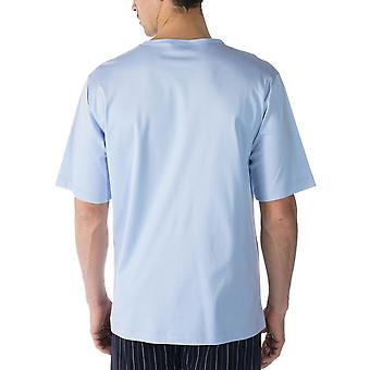 Mey Men 20430-188 Men's Lounge Blue Cotton Pyjama Top
