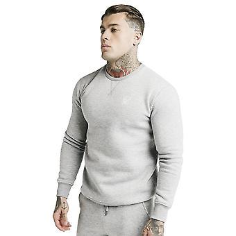 Sik Seide Ss-16084 Core Fleece Sweat Top - grau Marl