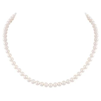 Eternal Collection Pure Pearls 18 Inch 6-7mm AAA White Freshwater Pearl Necklace