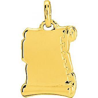 Ciondolo per pergamena liscia M dium o 750/1000 giallo (18K)