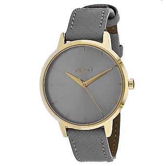 Nixon Women's Kensington Reloj gris de cuero - A108-2815