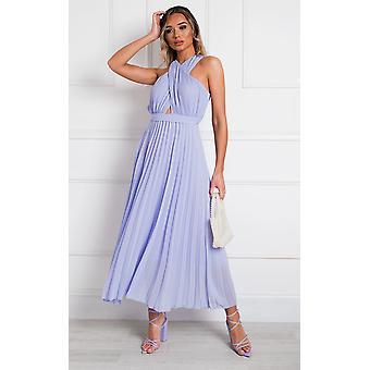 IKRUSH Womens Ryanna Pleated Crossover Maxi Dress