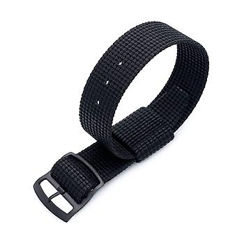 Strapcode n.a.t.o watch strap zulu g10 20mm or 22mm miltat raf n7 3-d woven nylon nato watch strap, matte black, pvd black ladder lock slider buckle