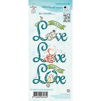 Leane Creatief Love Clear Stamp