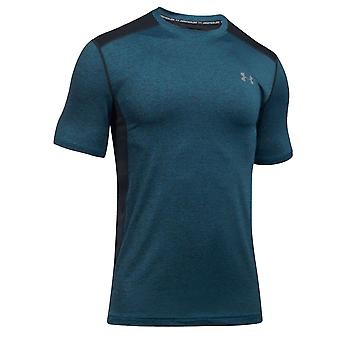 Under Armour Raid Mens Short Sleeve Training Fitness T-Shirt Tee Teal Marl