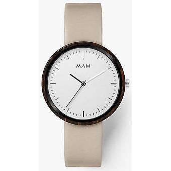 Mam Watches Flat Watch for Japanese Quartz Analog Man with Cowskin Bracelet 645