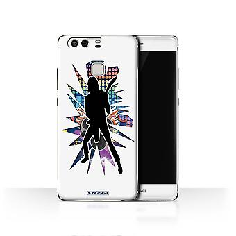 STUFF4 Case/Cover for Huawei P9/Solo White/Rock Star Pose