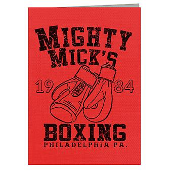 Rocky Inspired Mighty Micks Boxing Greeting Card