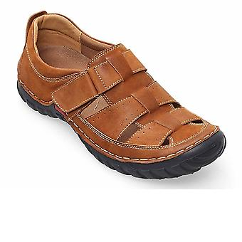 Padders Anchor Mens Leather Wide Fit Fisherman Sandals