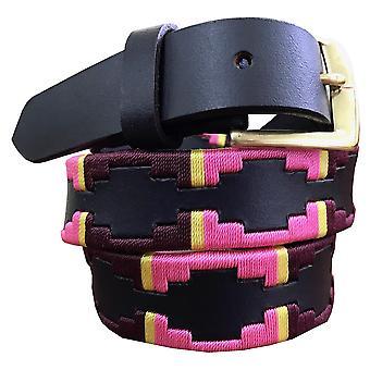 Carlos diaz barn unisex brunt läder polo bälte cdkpbhk1