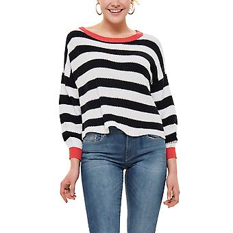 Only Women's Hide Pullover Striped Blue-White