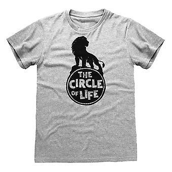Disney The Lion King 2019 Circle Of Life Men's Camiseta de los Hombres y Hombres de la Vida Mercancía oficial