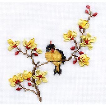 Panna Cross Stitch and Ribbon Embroidery Kit - Spring Song