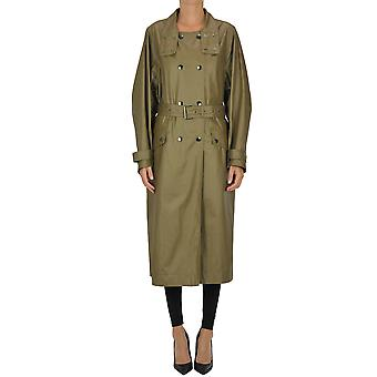 Isabel Marant Ezgl287031 Women's Green Cotton Trench Coat