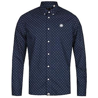 Mooie groene slim fit Navy polka dot shirt