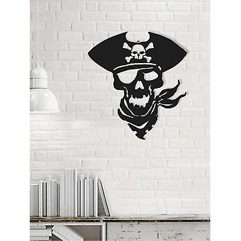 Black Metal Pirate Dekoracja ścienna 50x0.16x45 cm