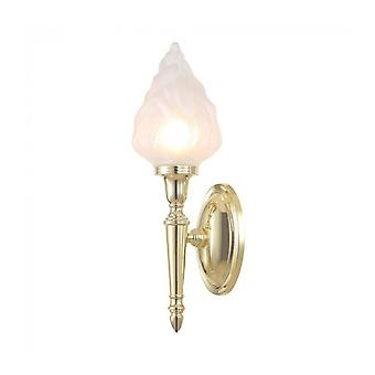 Dryden3 Wall Lamp, Polished Brass And Glass