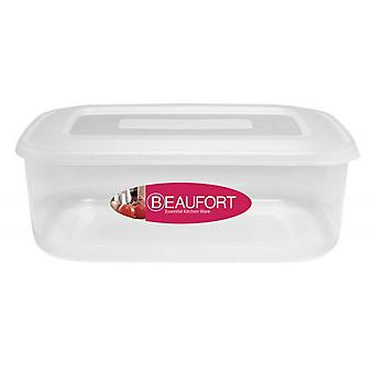 Beaufort Rectangular Plastic Food Container
