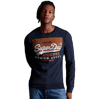 Superdry Mens Vintage Logo Organic Cotton Crew Sweatshirt