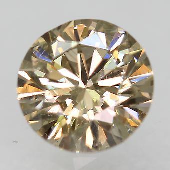 Cert 0.72 Carat Natural Fancy Brown VVS2 Round Brilliant Natural Diamond 5.72mm