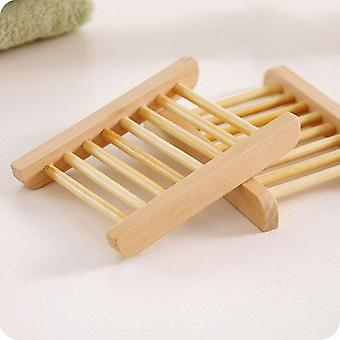Portable Bamboo Wooden Soap Holder Storage Box