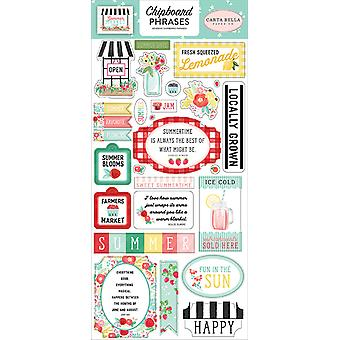 Carta Bella Summer Market 6x13 Inch Spaanplaat Zinnen