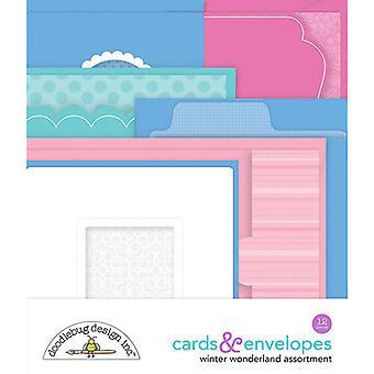 Doodlebug Design Winter Wonderland Cards & Envelopes (12pcs) (6535)
