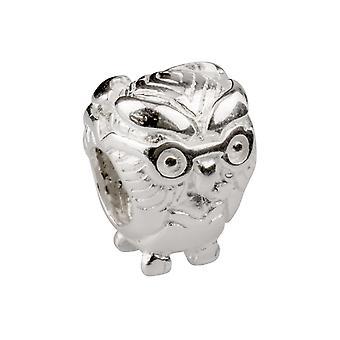 Sterling Silver Gufo Charm Bead