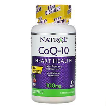Natrol, CoQ-10, Fast Dissolve, Cherry, 100 mg, 30 Tablets