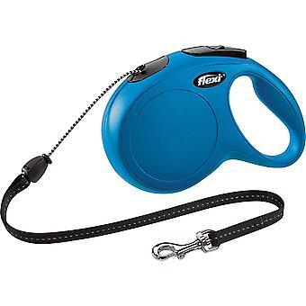 Flexi Classic - Lang/Medium 8m Snoer - Blauw