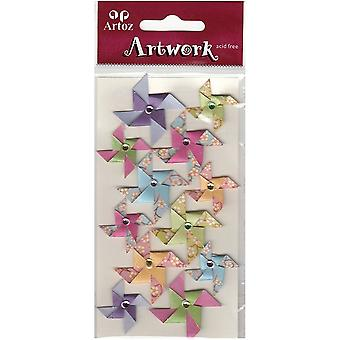 Origami Paper Windmills Craft Embellishment By Artoz
