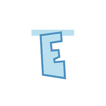 Linking Banner 20cm Baby Blue Letter - E Party Decoration