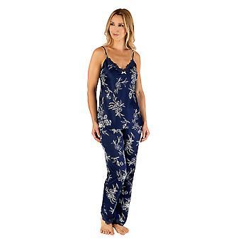 Slenderella Gaspé GL66722 Women's Navy Blue Floral Pyjama Set
