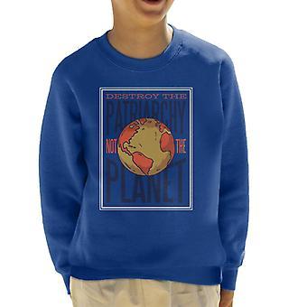 Destroy Patriarchy Kid's Sweatshirt
