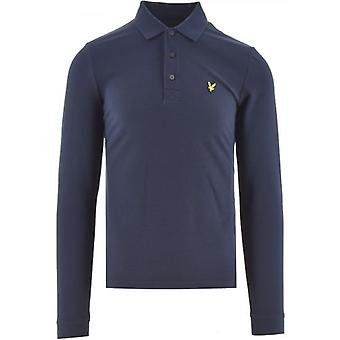 Lyle & Scott Navy Long Sleeved Polo Shirt