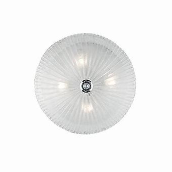 Ideal Lux Shell - 4 luz interior de la luz / luz del techo del espejo con cristal transparente, E27