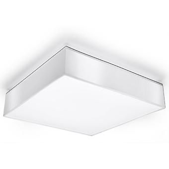 3 Light Flush Square Ceiling Light White, E27