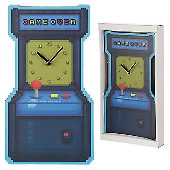 Fun Retro Arcade Game Shaped Wall Clock X 1 Pack