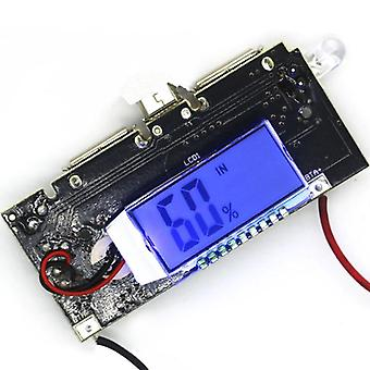 Digital Lcd 5v 2a Mobile Power Bank Charge Controller Dual Usb Lithium Battery Charger Board Module Pcb
