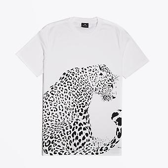 PS Paul Smith  - Wild Cat Print T-Shirt - White