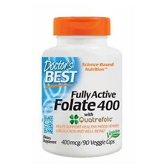 أفضل الأطباء الفولات النشطة بالكامل مع كواتريفوليك، 400 ميكروغرام، 90 vcaps