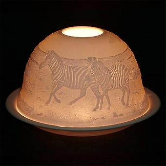 Nordic Lights Candle Shade & Plate - Zebra
