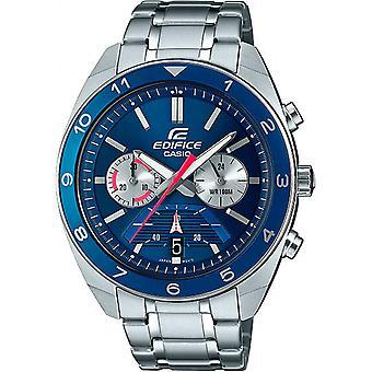 Casio Efv-590d-2avuef Watch - Multifunction Steel Steel Blue Dial