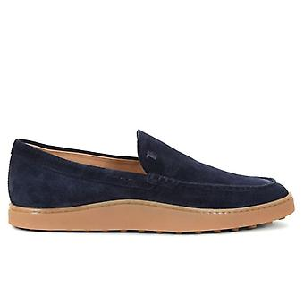 Mannen Slip-on Moccass Man Tod&s Blue Suede