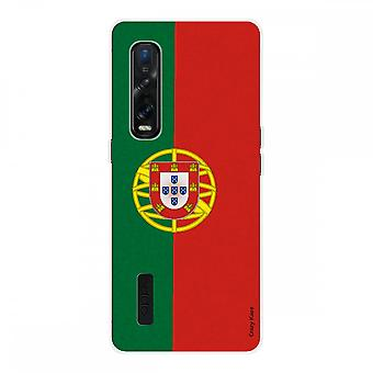 Hull For Oppo Find X2 Pro In Silicone Soft 1 Mm, Portuguese Flag