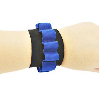 Azul suave bala seguridad elástico, banda de muñeca, pistola de almacenamiento Nerf juguete para (azul)